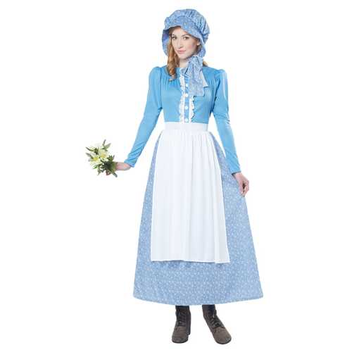 California Costumes Women's Pioneer Woman Costume Blue/White Large