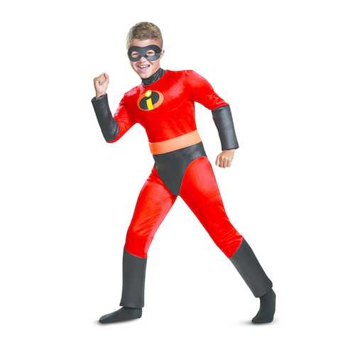 Boy'S Dash Classic Muscle Child Costume Red Medium (7-8)