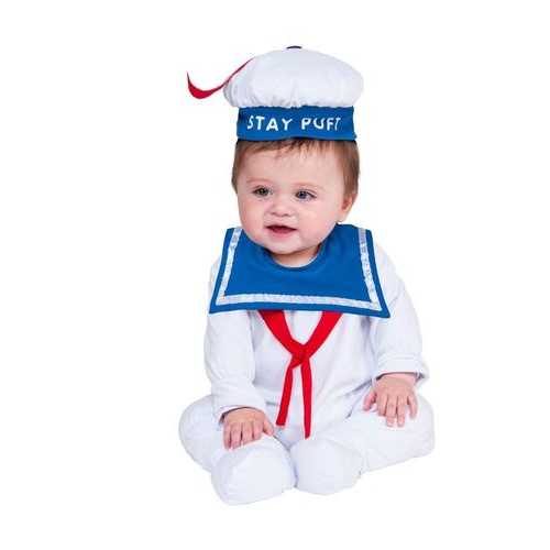 Baby Ghostbusters Classic Stay Puft Costume Romper6-12 (Months)