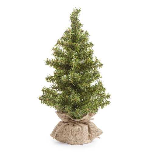 Canadian Tree With Burlap Base - 108 Tips - 15 Inches