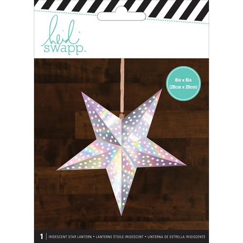 American Crafts Heidi Swapp Paper Lanterns Small Star Iridescent