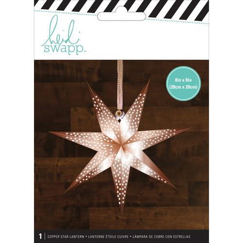 American Crafts Heidi Swapp Paper Lanterns Small 7 Point Copper