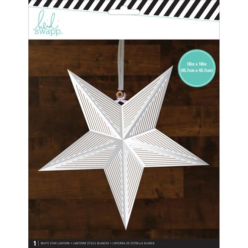 American Crafts Heidi Swapp Paper Lanterns Large Star White