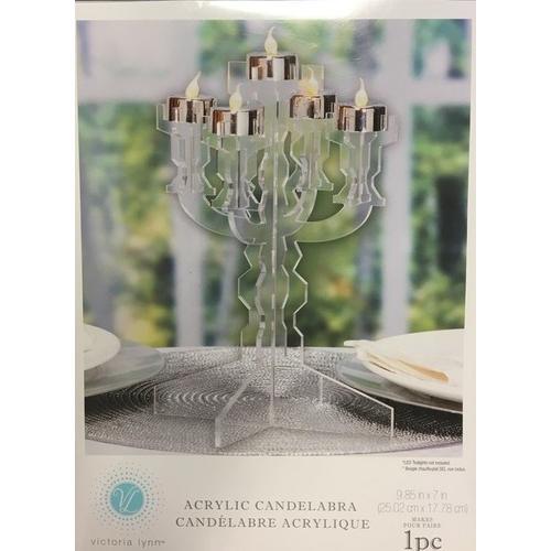 Tea Light Acrlic Candlelabra 9.85X7 Inches
