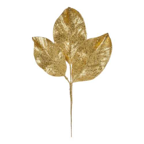 Christmas Floral Magnolia Gold Christmas Pick 13.5 Inches