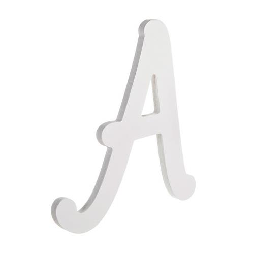 9 Inches White Wood Letter A Brush Font