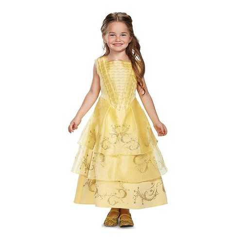Belle Ball Gown Deluxe Movie Costume Yellow Medium (7-8)
