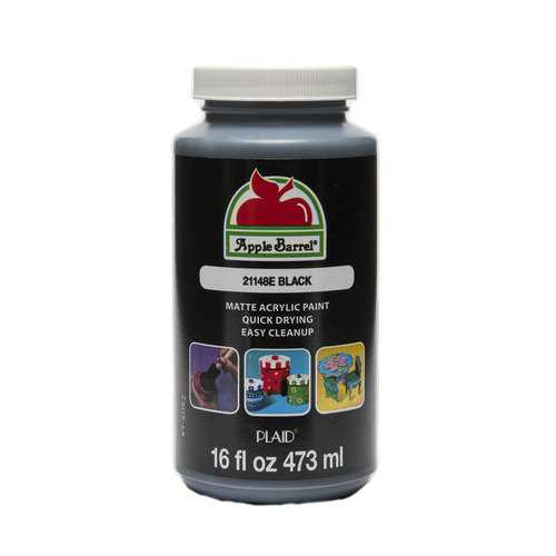 Apple Barrel Colors - Black 16 oz.