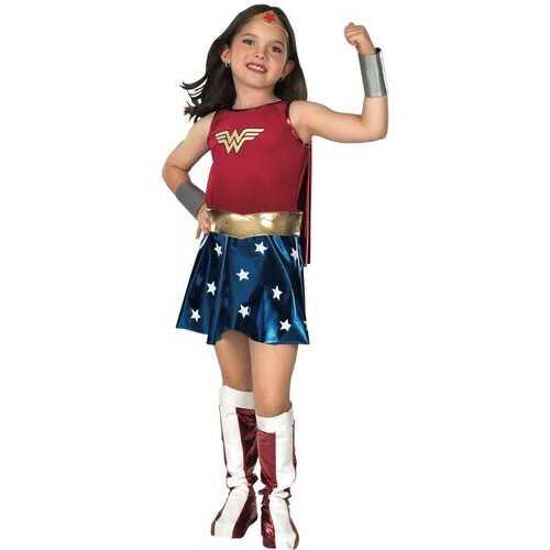 Dc Comics Superheroes Deluxe Kids Wonder Woman Costume Female Large