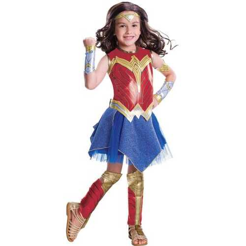 Kid'S Deluxe Wonder Woman Costume Female Meduim