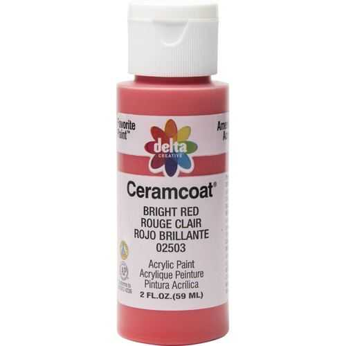 Plaid Delta Creative Ceramcoat Acrylic Paint In Assorted Colors (2 Oz)Bright Red