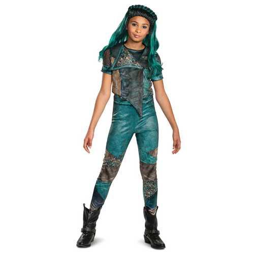 Uma Girls Classic Costume Teal Large(10-12)