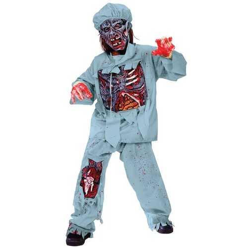 Fun World Boy's Zombie Doctor Child Costume Large