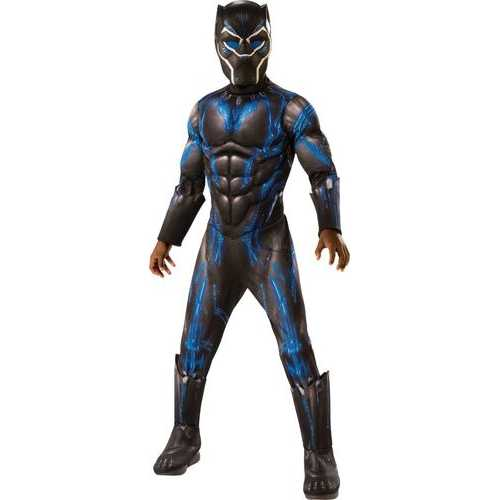 Boy'S Kids Deluxe Black Panther (Movie) Battle Suit Costume Large