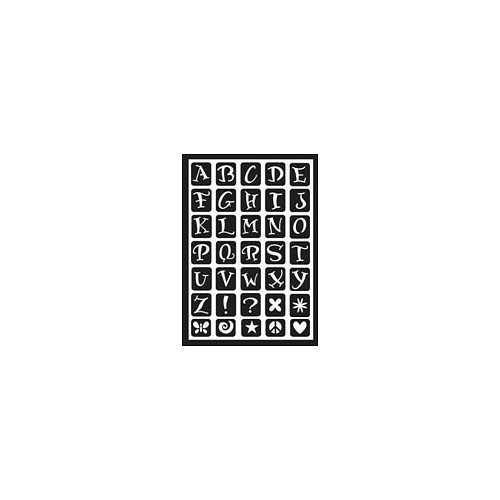 Plaid:Craft Folkart Peel & Stick Stencil 5.875 X 8.25 Inches Fun Alphabet