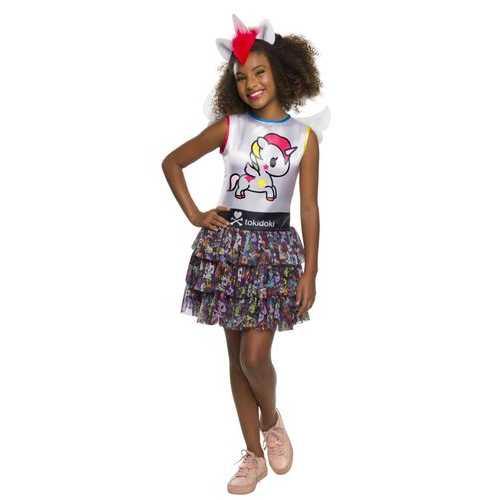 Girl'S Child'S Tokidoki Costume Stellina Unicorno Medium
