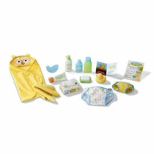Melissa & Doug Mine to Love Changing & Bath Time Play Set for Dolls
