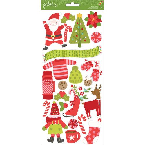 Deck The Halls Collection Christmas Cardstock Stickers Icons