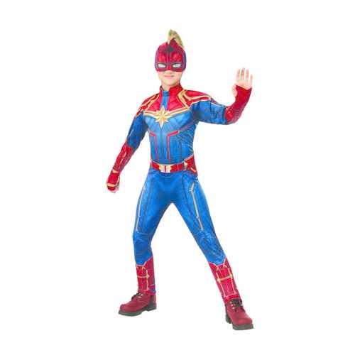 Kids Captain Marvel Deluxe Hero Suit Girls Costume Medium
