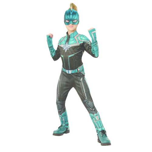 Kids Captain Marvel Deluxe Kree Girl'S Costume Large