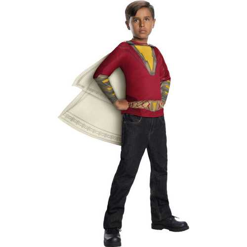 Boys Shazam Movie Child'S Costume Top & Hooded Cape Large