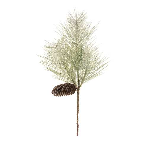 Christmas Floral Pine Spray With Cone Pvc 16 Inches