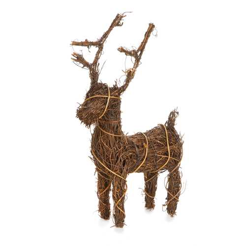 Christmas Decor Angelvine Deer Natural 5.5 X 8 X 1.75 Inches