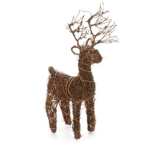 Christmas Decor Angelvine Deer Natural 8 X 14 X 3 Inches