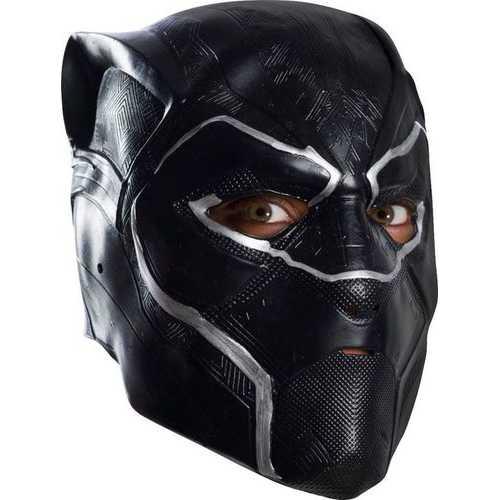 Men'S Black Panther 3/4 Mask Vinyl Adult Multi Color One Size