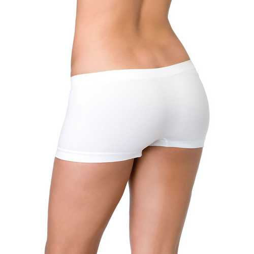 Leg Avenue Womens Seamless Boyshort White One Size