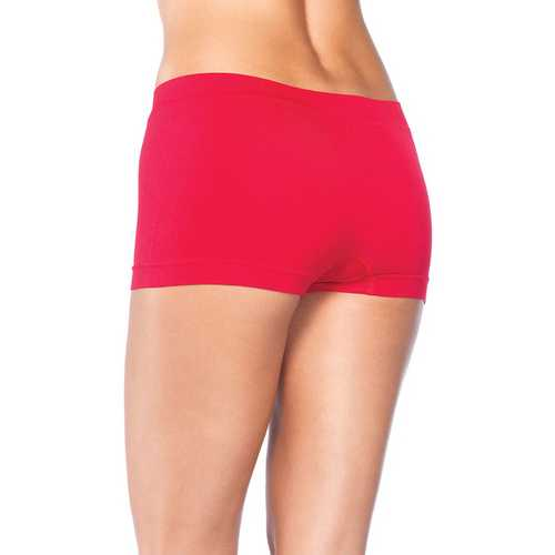 Leg Avenue Womens Seamless Boyshort Red One Size