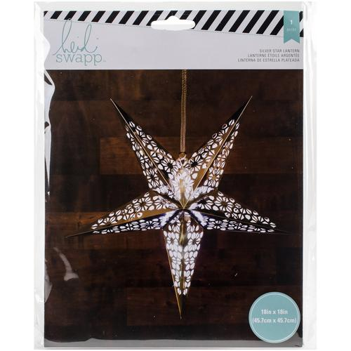 American Crafts Heidi Swapp Paper Lanterns Large 5 Point Silver Foil