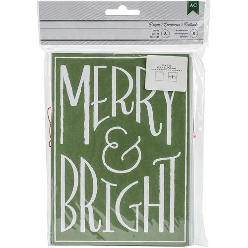 Cards With Envelopes Merry And Bright