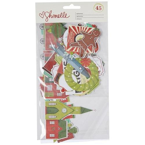 Christmas Magic Collection Ephemera With Foil Accents