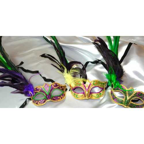 Kbw Women's Venetian Styled Eye Three Multiclor Masks