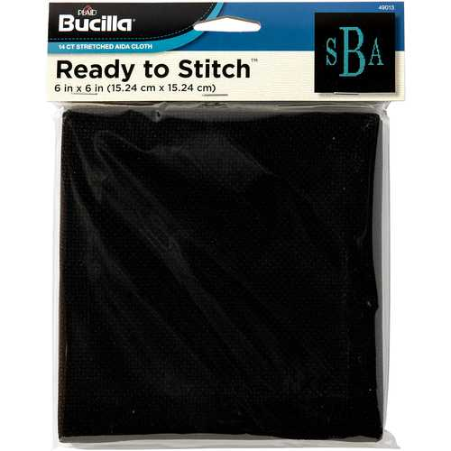 Bucilla Ready to Stitch Blanks - Counted Cross Stitch - Black 6 x 6