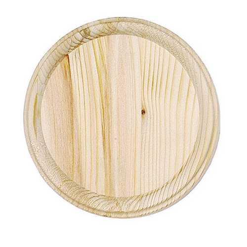 Wooden Round Plaque 4-Inch