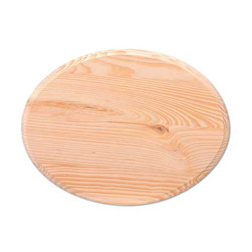 Wood Plaque Oval 9 X 12 Inches