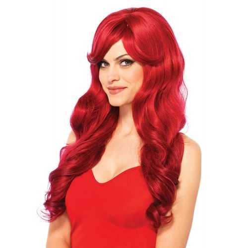 Leg Avenue Women's Long Wavy Wig Red One Size