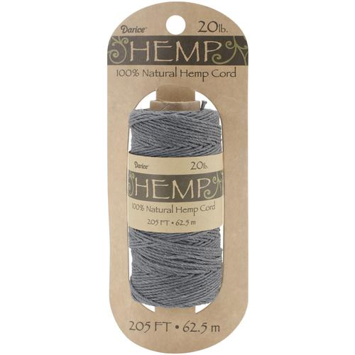 Darice Hemp Spool 205 Feet Gray