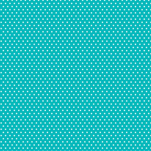 Core Basics Patterned Cardstock 12 X12 Inches Teal Small Dot