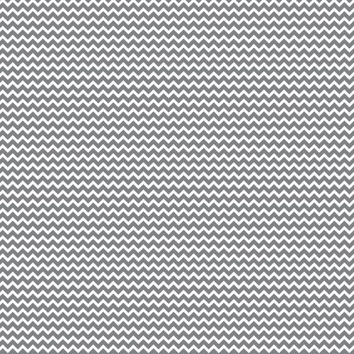 Core Basics Patterned Cardstock 12 X12 Inches Gray Chevron