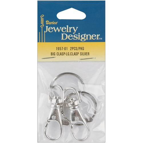 Jewelry Designer Slimpack Silver Metal Findings?Big Clasp