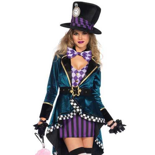 Leg Avenue Women'S Sexy Mad Hatter Costume Multi Small