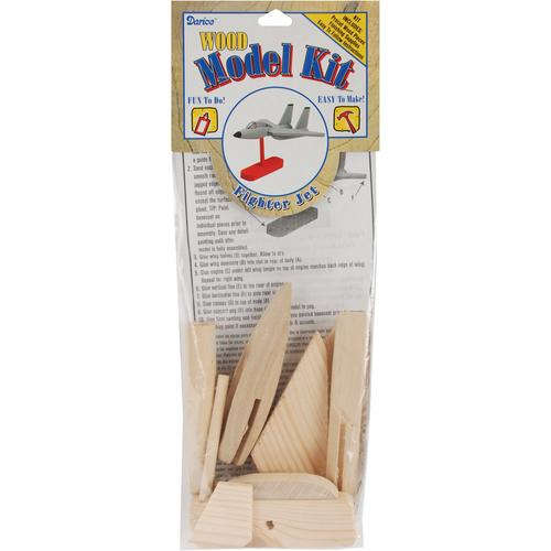 Wood Model Kit Fighter Jet 7.75 X 4 Inches
