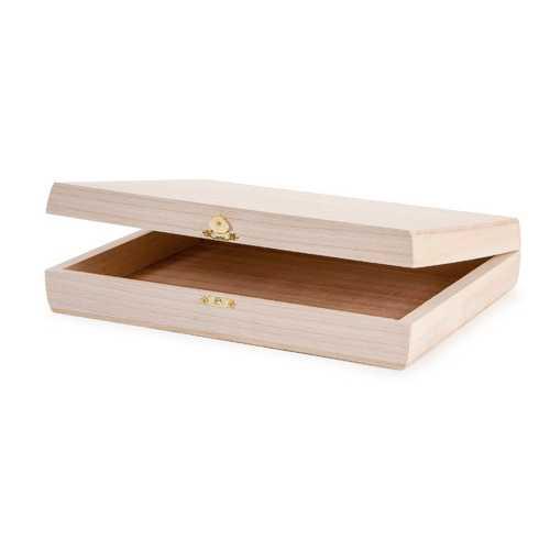 Natural Wood Purse Box 11.5 X 8.5 Inches