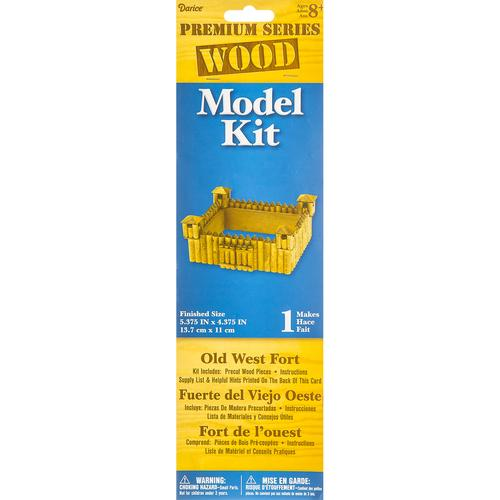 Wood Model Kit Fort 5.375 X 2.375 Inches