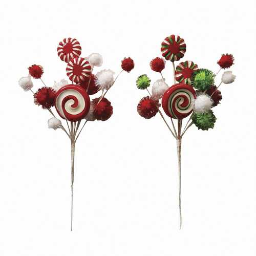 Christmas Candy Pick 5.51 X 11 Inches 2 Assorted Styles