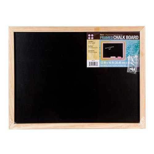 Black Board With Wood Frame 12 X 16 Inches