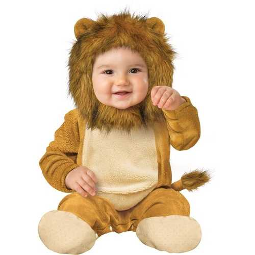Fun World Kids' Toddler Baby's Cuddly Lion Infant Costume Multi Small